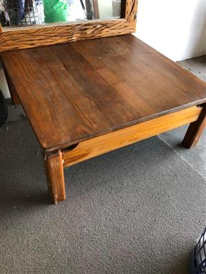 Light wood wooden table.