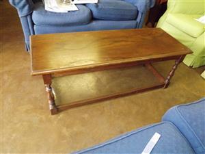 Narrow oak coffee table