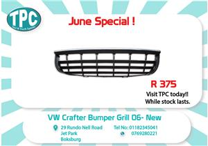 VW Crafter Bumper Grill 06- New for Sale at TPC