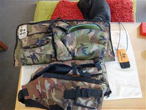 Paintball jacket and bag