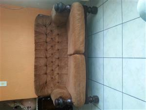 Imbuia lounge suite for sale.