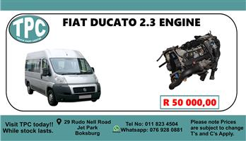 Fiat Ducato 2.3 Engine - For Sale at TPC