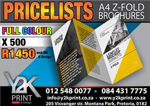 A4 Z fold brochures special !