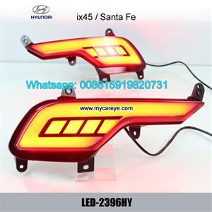 Hyundai Santa Fe IX45 Car LED running Bumper Brake Lights lamps