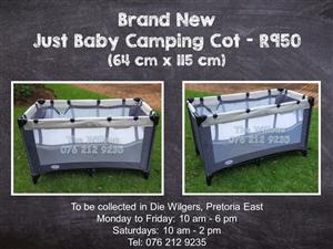 Brand New  Just Baby Camping Cot (64 cm x 115 cm)