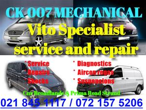 Mercedes Vito service and repair Spesialist available.