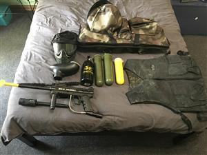 Paintball gun full set up