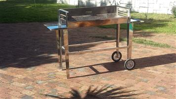 Stainless Steel Freestanding Braai with wheels