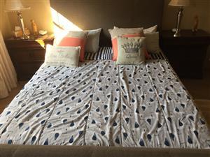 Coricraft full bedroom suite including 2 bedside tables