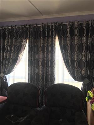 Black and white sequence curtains for sale