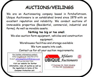 UBIQUE AUCTIONEERS: We auction all types of industrial machinery