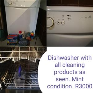 Dishwasher and cleaning products