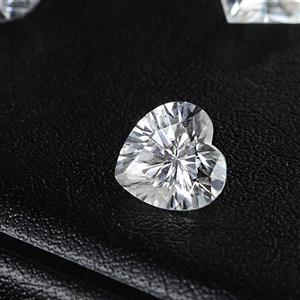 Moissanite loose gem stone D color white heart shape