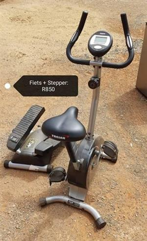 Fitness cycle and stepper for sale