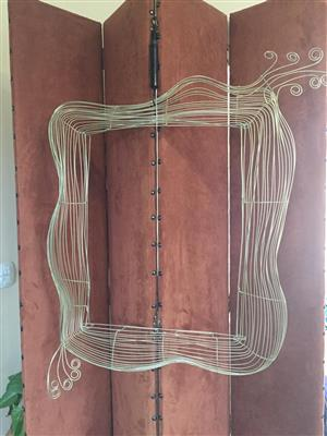 Unique Brass Wire-Art 3-D Wall hanging / Picture frame - very Bohemian in style and design