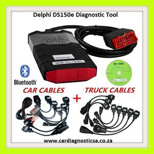 Car tool: Delphi DS150E Pro Diagnostic Tool Bluetooth + Car, Truck  Adapters