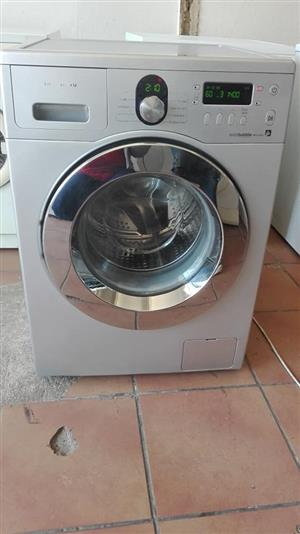 Silver Samsung ecco bubble washing machine