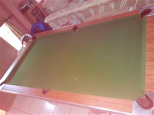 Pool Table with Solid Cover
