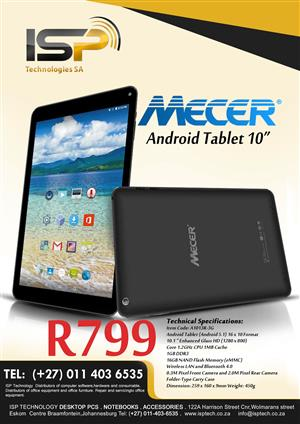 "Mecer 10"" Dual Sim Tablet...10-units Available"