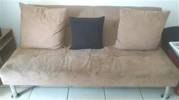 Couch opens into a sleeper