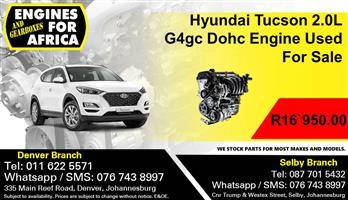 Hyundai Tucson 2.0L G4gc Dohc Engine Used For Sale.