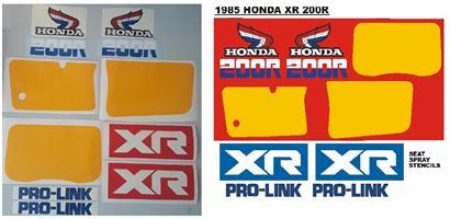 1985 XR 200R decals stickers stencils kit