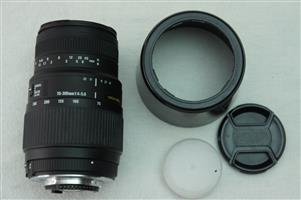 Sigma DG 70 to 300mm 1:4-5.6 DG Macro for Nikon SLR