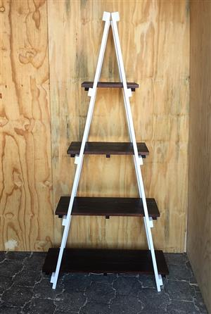 Trestle shelving A Frame Tree shape 4 tier 2000 - Two toned