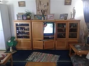 Light wooden wall unit for sale