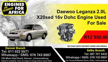 Daewoo Leganza 2.0L X20sed 16v Dohc Engine Used For Sale