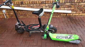 Zingo battery scooters x 2