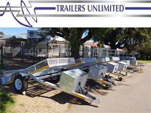 TRAILERS UNLIMITED FLATBED BREAK NECK TRAILERS.