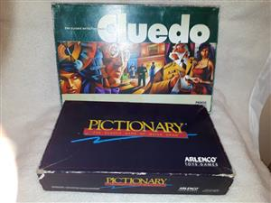 CLUEDO AND PICTIONARY