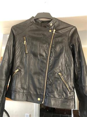 Woolworths Ladies Biker jacket with brass detailing - Size Medium