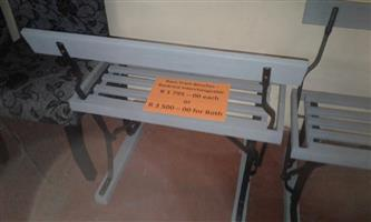 Grey tram benches for sale