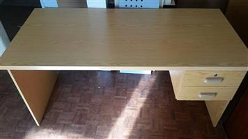 Oak desk with drawers