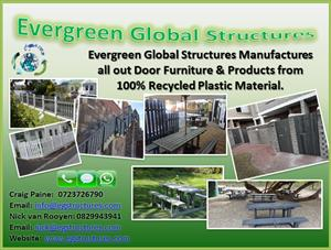 Gates made from 100% recycled plastic for homes and complexes. No Maintanance