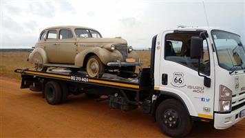 Pretoria to Bloemfontein. Classic Car Transport with rollback truck.