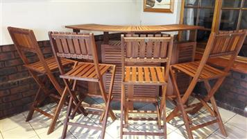 Outdoor bar with 4 chairs