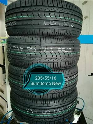 205/55/16 Sumitomo New Tyres for Sale