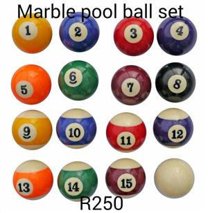 Marble pool ball set for sale