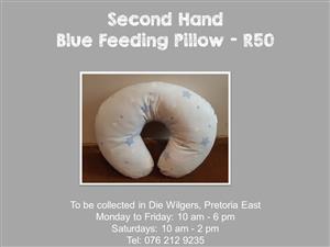 Second Hand Blue Feeding Pillow