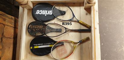Set of 3 Tennis Rackets