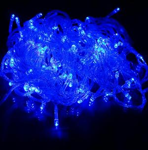 LED Decorative Fairy String Lights Waterproof Battery Operated in Blue. Brand New.