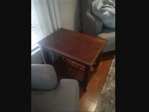 Beautiful wooden couch side classic tables