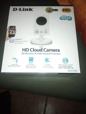 D-Link DCS-2132L HD Cloud, HD Wireless N Cube Network Camera. Brand new, in boxes.