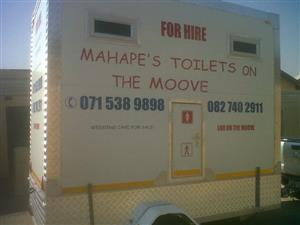 a single axe Mobile Toilet for sale
