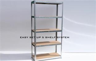 DIY 5-Shelf Easy Setup Shelving Unit