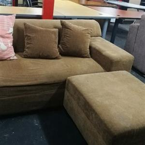 Brown L-Shape Secondhand Couch