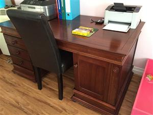 DESK. WETHERLYS LAMPUNG PARTNERS / OFFICE DESK - Mahogany. Stunning piece in MINT condition